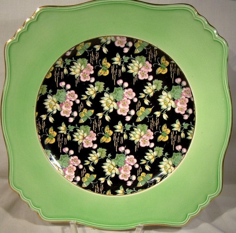 """Royal Winton Orient Chintz 9-3/4"""" Canada Only Variant Plate 1950s"""