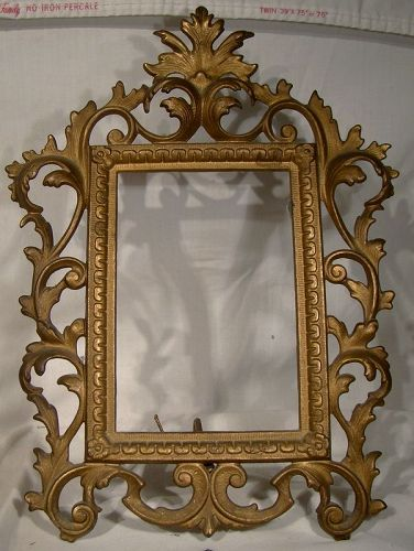 Victorian Gilt Cast Iron Stand Up Picture Frame 1890-1900