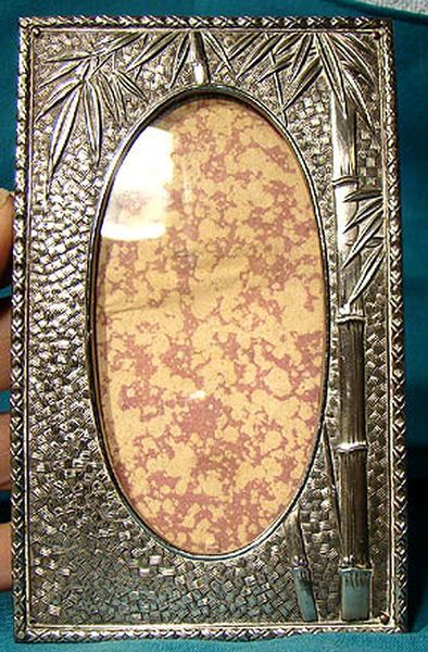 Antique Japan Meiji Period Sterling Silver Picture Frame 1880-1900