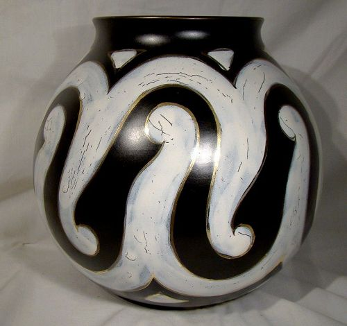 Huge Gouda Roma Art Pottery Vase Royal Zuid 1950s 3125