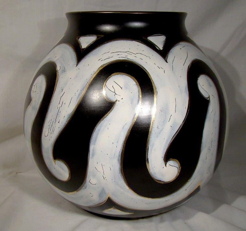 Huge Gouda Roma Art Pottery Vase Royal Zuid 1950s 3125