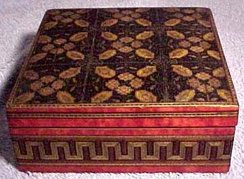 Exceptional Victorian Tunbridge Ware Trinket or Dresser Box 1850s
