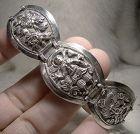 Chinese Silver Scenic Links Bracelet 1920s