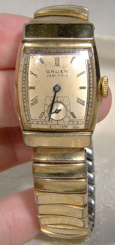 Gruen Veri-Thin Style 474 Gold Plated Wrist Watch Dated 1941