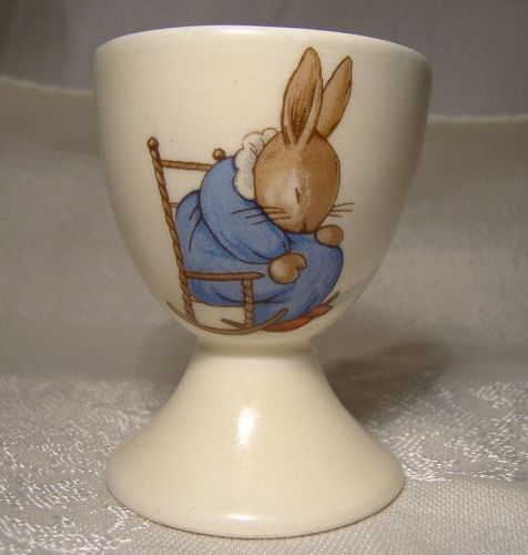 Bunnykins Sleeping in a Rocking Chair & Lambeth Walk Egg Cup Style 2