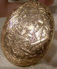 Hand Engraved Rose Gold Filled Large Photo Locket 1880s