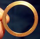 10k Art Deco Textured Round Circle Pin 1920s