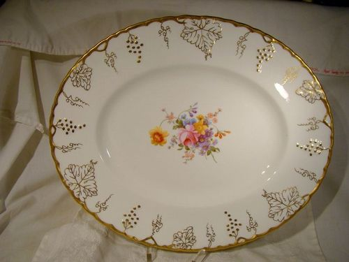 "Royal Crown Derby Vine Posie Center 15-1/8"" Serving Platter A929"