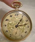 Ellis Bros. Gold Filled Fancy Pocket Watch with 15J Cyma 777 Four Adj.