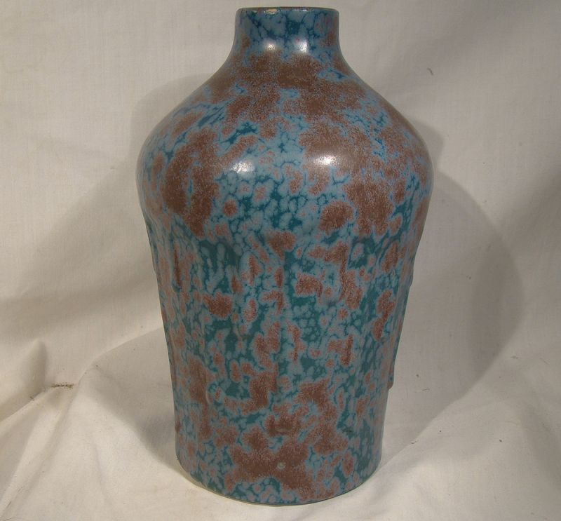 "Revernay France Art Studio Pottery 8-1/4"" Tall Vase 1920s"