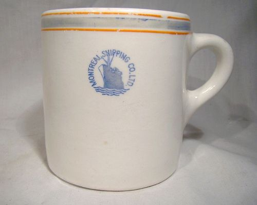 Montreal Shipping Co. Ltd. Ceramic Coffee Mug 1937-45