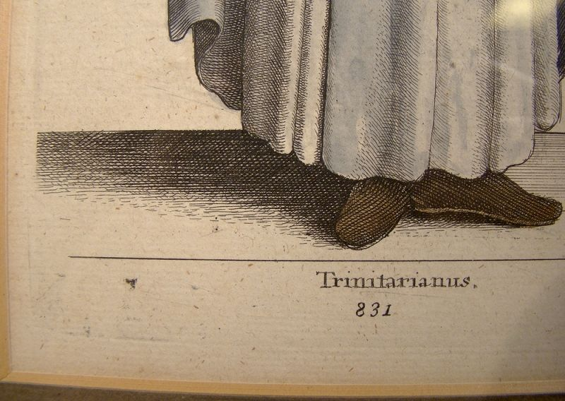 17th Century Wenceslas Hollar Trinitarianus Hand Coloured Engraving