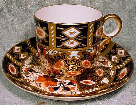Davenport 2614 Old Imari 2451 Style Pattern Cup and Saucer 1870-1887