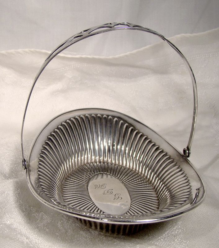Webster Queen Anne Style Sterling Swing Handle Candy or Bonbon Basket
