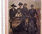 MOTORCYCLE & SIDECAR TINTYPE c1905 - Historic View