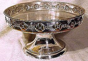 Danish Arts & Crafts Pedestal Silver Plated FRUIT BOWL 1900