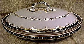 RC DERBY 6452 HAND PAINTED COVERED ENTREE 1907