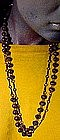 Purple GLASS FLAPPER BEAD NECKLACE 1930s