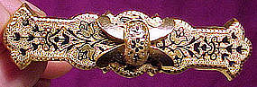 Great Victorian RGP ENAMEL BAR BROOCH c1870-80