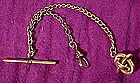 Late Victorian GF WATCH FOB CHAIN with KNOT FOB