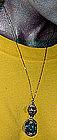 Superb ART DECO GREEN GLASS NECKLACE