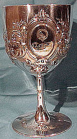 1867 ENGLISH Silver Plate STEEPLECHASE AWARD CUP or GOBLET