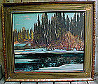 FRANZ JOHNSTON GROUP OF 7 CANADIAN OIL PAINTING