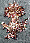 ART NOUVEAU KERR STERLING THISTLE BROOCH 1900