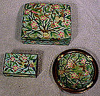 CHINESE FREE FORM CLOISONNE ENAMEL SMOKING SET 1900