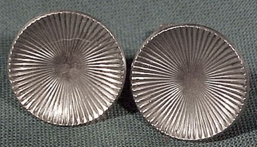 Vintage BIRKS STERLING RAYED CIRCLES EARRINGS c1940-50