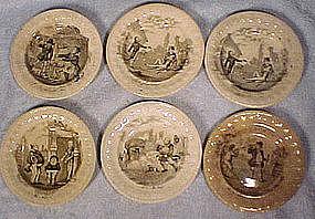 Victorian HUMOROUS MINIATURE PLATES c1860-80