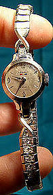 BENRUS 14K WHITE GOLD LADY'S WRISTWATCH c1950s