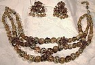 Christian DIOR Glass Rhinestone Necklace Earrings Set 1958 1959