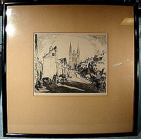 KARL (CARL) SCHULTHEISS NUMBERED ETCHING pre 1931