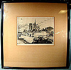 KARL (CARL) SCHULTHEISS NUMBERED ETCHING 1930