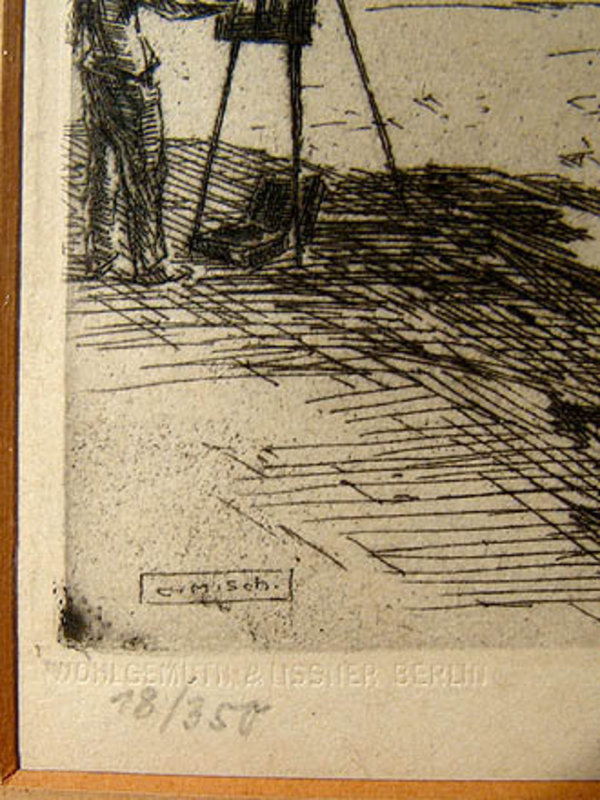 KARL (CARL) SCHULTHEISS NUMBERED ETCHING c1930