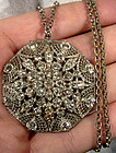 Edwardian FILIGREE PASTE RHINESTONE NECKLACE c1910