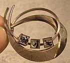 KORDES & LICHTENFELS 835 Silver RUTILATED QUARTZ Brooch 1960