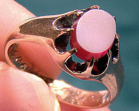 Edwardian Gentleman's 10K SARDONYX RING 1902