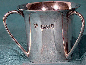 Arts & Crafts STERLING SILVER English MINIATURE TYG London 1905