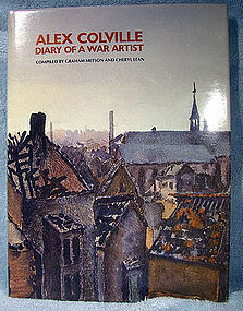 ALEX COLVILLE DIARY OF A WAR ARTIST BOOK - Metson Lean