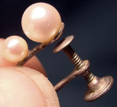 Quality CULTURED PEARL STERLING SCREWBACK EARRINGS