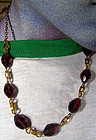 GP PURPLE FACETTED CRYSTAL NECKLACE c1920