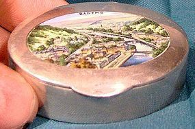 ENAMEL 800 SILVER BAD EMS SNUFFBOX SNUFF BOX Germany City