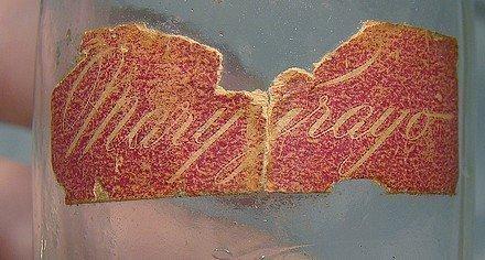 Scarce MARY GRAYO FUR PERFUME BOTTLE w/ LABEL 1930s-40s