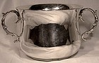 ENGLISH STERLING SILVER 2 HANDLE LOVING CUP or BOWL Rossi Norwich 1923