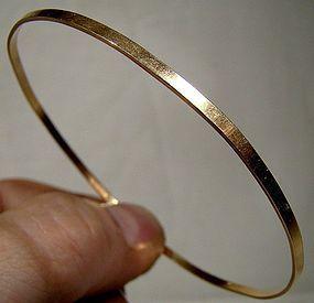 Simple Classic BIRKS 10K YELLOW GOLD BANGLE BRACELET