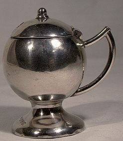 Footed Round ENGLISH STERLING MUSTARD POT 1920