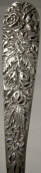 Early Kirk REPOUSSE STERLING BERRY SPOON