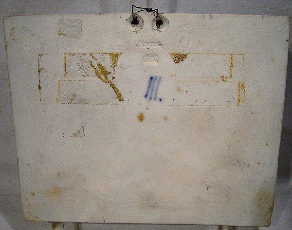 ROYAL COPENHAGEN BISQUE WALL PLAQUE w/ CHERUBS c1860
